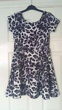 "MeiNa fashion ladies black white leopard print short sleeved dress 30"" chest"