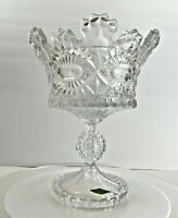 """Vintage Beautiful Shannon Chrystal Royalty Pedestal Trifle or Compote Bowl  11"""""""