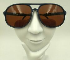 Vintage Bolle Blue Aviator Sunglasses Eyeglasses Frames France
