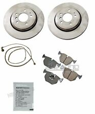 BMW E46 330xi 01-06 Rear Brake Anti-Squeal Paste Wear Sensor & Brake Rotors OEM