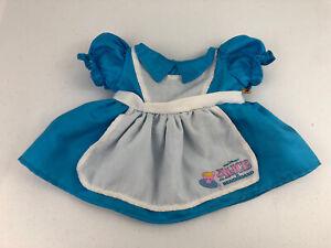 Build a Bear Disney Alice In Wonderland Blue/White Dress Rare