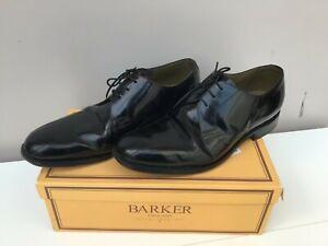BARKER MEN'S BLACK PATENT  SHOES - Size 10.5   - Thames  Hospice