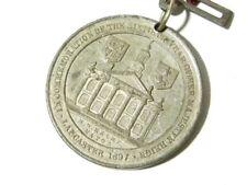Antique Commemoration Medal Diamond Jubilee Victoria 1897 Lancaster #G7