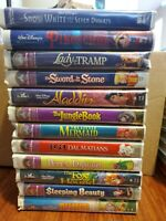 Disney Movies vhs black diamond the classic and Masterpiece Collection Lot Of 12