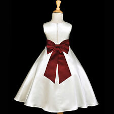 CUTE FLOWER GIRL DRESS TEA-LENGTH BIRTHDAY RECITAL WEDDING PLAY DRESS MANY SIZES