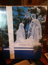 Holiday Ice Sculpture, Heritage Mint, Large Nativity, Color Changing - 2002