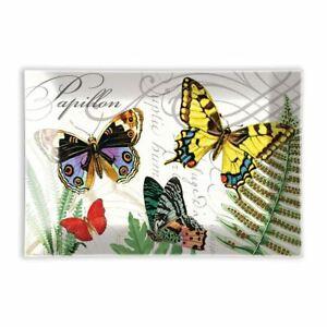 Michel Design Works Glass Trinket / Soap Dish Papillon Butterflies NEW