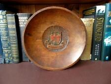 Early 20th C, Main Carved & Turned, Wooden Wall Plaque, Crest of Burgenland