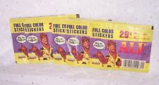 ALF  STICKER PACKS=SET OF FIVE=  6 STICKERS EA..=30 STICKERS FULL COLOR -VINTAGE