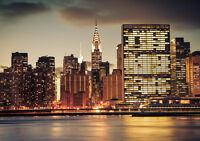 NEW YORK CITY SKYLINE NEW A4 POSTER GLOSS PRINT LAMINATED