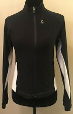 Nike Dry Fit Womens Activewear Jacket Size 4-6 Black Mock Neck Zip Up Stretch