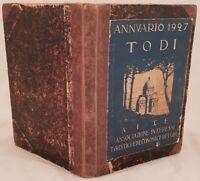 PENSI COMEZ ANNUARIO DI TODI 1927 RICETTE DIALETTO STORIA ASTRONOMIA TEATRO