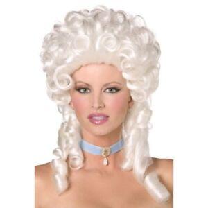 Marie Antoinette Wig White Curly Baroque Vitctorian Ladies Fancy Dress New