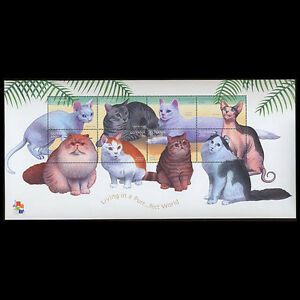 Guyana, Sc #3592, MNH, 2001, S/S, Cats, Topical Stamps, Animal, AR5HID-F
