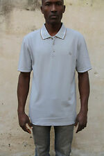 IVY OXFORD Mens Vintage Short Sleeved Polo Top Cotton Auth 80s Grey  XXL