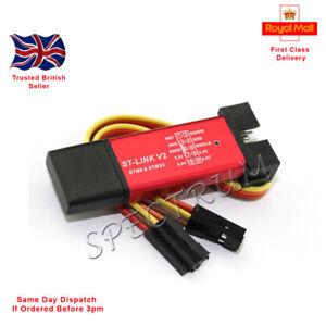 Mini ST-Link V2 stlink Emulator Downloader STM8 STM32 With Cover + Dupont Cable