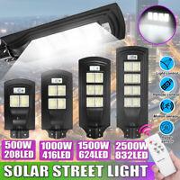 500-2500W LAMPIONE STRADALE LED PANNELLO SOLARE FARO CON SENSORE PIR  ~