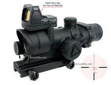 4X32 Rifle TA02 Scope Bindon concept M-acog.raph BDC illuminated optic reticle