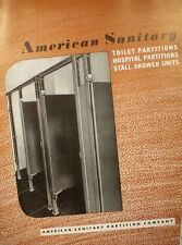 American Sanitary Partition Co. ASBESTOS Bathroom Toilet Panels Catalog 1944