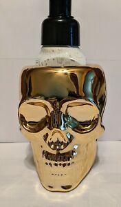 Bath & Body Works Halloween 2021 Gold Skull Soap Holder NEW