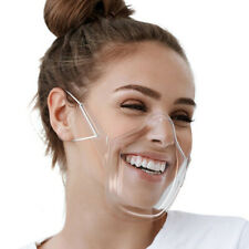 Reusable Clear Mask Plastic Half Face Cover Protective Anti-saliva Face Shield