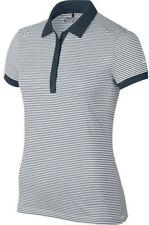 Nike Ladies Victory Stripe Polo Armory Navy Small 725585-454 Shirt Top $60