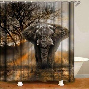 Nice Epic Elephant Safari Sunlight Nature Gorgeous Fabric Shower Curtain