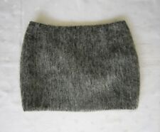 NWOT UNIQLO JAPAN Women's Gray Fuzzy Mohair Wool Micro Mini Skirt - Size 2