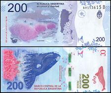 Argentina 200 Pesos, 2017, P-NEW, UNC, Series - B