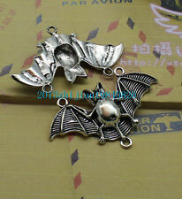 lovely The bat charm pendant Free shipping 3pcs Retro Style alloy
