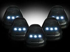 1999-2017 F-150 Truck Smoked Cab Roof Lights w/ White LED Bulbs & Install Kit