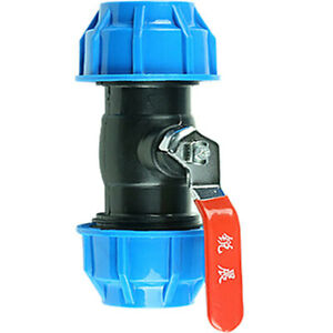Compression Pipe Joiner with Ball Valve. 20 mm/ 25 mm/ 32 mm