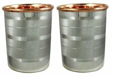 Drink ware Accessories Pure Copper & Stainless Steel Glass / Cup 9 Oz Set Of 2