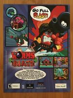 Worms Blast Gamecube PC 2002 Vintage Poster Ad Art Print Official Promo Rare
