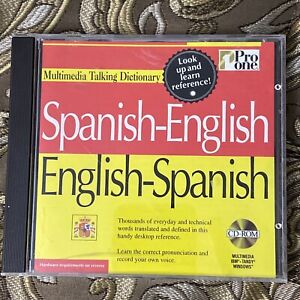 Pro One Spanish-English,English-Spanish Multimedia Talking Dictionary PC CD ROM