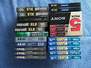 Ca. 125 Musikkassetten OVP, unbenutzt & bespielt TDK Sony Maxell Denon BASF