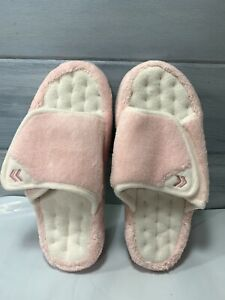 Women's Isotoner Microterry Pillowstep Spa Slide Memory Foam Slippers Sz. 6.5/7