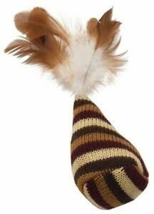 """Ethical Spot Catnip Feathers Knit Fun Shape Cone Bag Night Time 3.5"""" Cat Toy"""