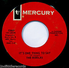 THE RIDDLES-Sweets For My Sweet & It's One Thing-Rare Mod Garage 45-MERCURY