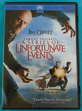 Lemony Snicket's A SERIES OF UNFORTUNATE EVENTS, fullscreen DVD with Jim Carrey