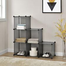 NEU.HAUS® DIY System Regal Schrank 110x110cm Garderobe Steck Bad Kleider Wand
