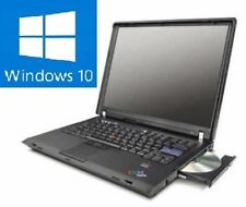 Lenovo IBM ThinkPad t60 portátil notebook con Windows win10 10 licencia/batería ok