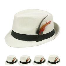 Fedora Hat Wedding Dress Formal WHITE CAP MEN WOMEN FASHION WINTER