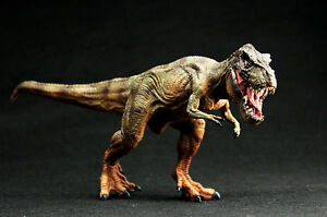 Dinosaurs T-Rex, Brown Running Figure Jurassic World Park Moving Jaw Ideal Gift