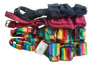 Fairtrade Hippy Festival Travel Utility Money Belt Bum Bag Purse Security Wallet