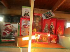 Santa Claus Christmas Figure Lot animated lighted Musical Ornaments Beads Trees