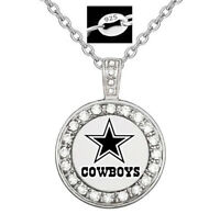 Special Dallas Cowboys Women's 925 Sterling Silver Necklace Football Gift D18