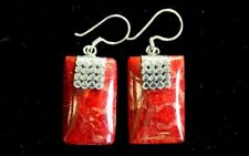 Coral Style Silver Earrings -  Mini Discs