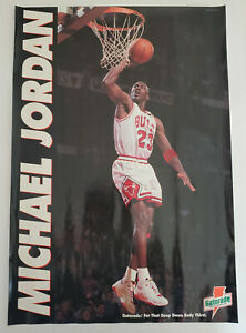 Vintage Micheal Jordan Poster Gatorade Promo Stokley Van Camp 1993 New 26 X 18
