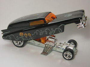HOT WHEELS 59 CADILLAC FUNNY CAR PART OF NIGHTMARE SERIES BLK REAL RIDERS SINGLE